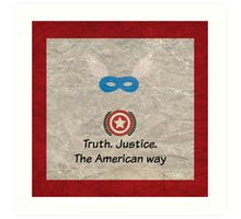 Shield of Justice Art Print