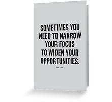 Tobias Sloane Quote Series 9 Greeting Card