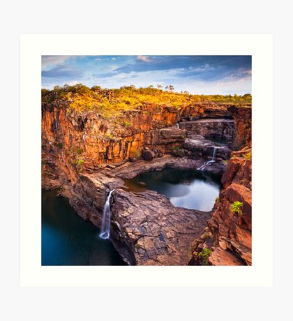 Dusk at Mitchell Falls Art Print