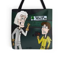 "BttF - Twin Pine Mall ...""Run for it, Marty!"" Tote Bag"