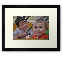 My Inspiration - my boys Framed Print