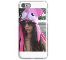 Pink Squid Hat iPhone Case/Skin