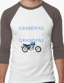 SOME GRANDPAS PLAY BINGO REAL GRANDPAS RIDE MOTORCYCLES Men's Baseball ¾ T-Shirt