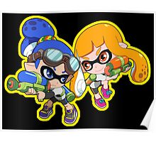 Splatoon - Inkling Boy and Inkling Girl Poster