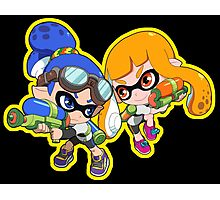 Splatoon - Inkling Boy and Inkling Girl Photographic Print