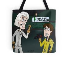 "BttF - Lone Pine Mall ...""Run for it, Marty!"" (Marty's 2 POVs) Tote Bag"