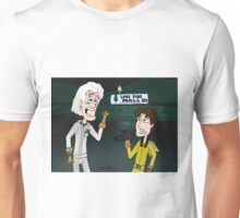 "BttF - Lone Pine Mall ...""Run for it, Marty!"" (Marty's 2 POVs) Unisex T-Shirt"