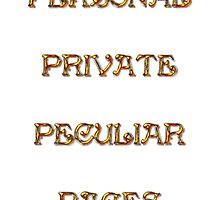 Personal Private Peculiar Pages by scholara
