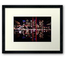 Bokeh City Framed Print