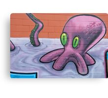 Graffiti Octopus Canvas Print