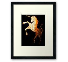Golden Unicorn Framed Print