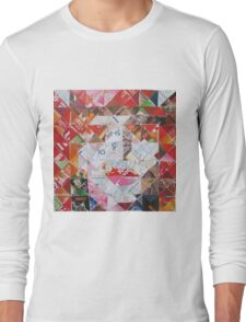 Mad Hatter in diagonal pattern Long Sleeve T-Shirt