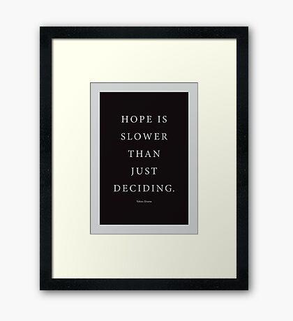Tobias Sloane Quote Series 5 Framed Print