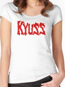 Kyuss old logo Women's Fitted Scoop T-Shirt