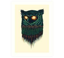 owl forest Art Print