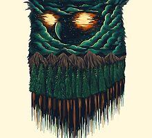 owl forest by motymotymoty
