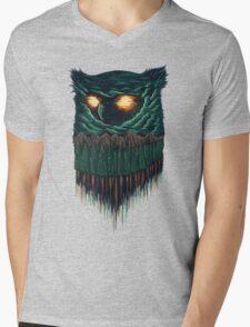 owl forest Mens V-Neck T-Shirt