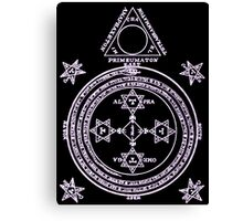 Magical Circle of King Solomon INVERTED Canvas Print