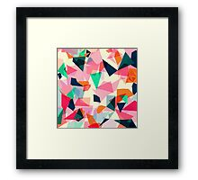 Loud Geometric Abstract Framed Print
