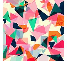 Loud Geometric Abstract Photographic Print
