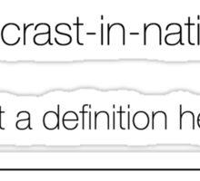 Procastination Definition Sticker