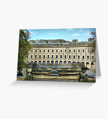 The Crescent Buxton . Greeting Card