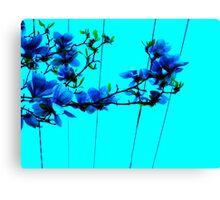 blue flower wire Canvas Print