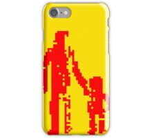 1 bit pixel pedestrians (red) iPhone Case/Skin