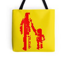1 bit pixel pedestrians (red) Tote Bag