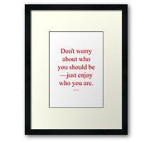 Tobias Sloane Quote Series 3 Framed Print