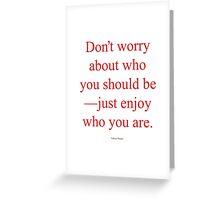 Tobias Sloane Quote Series 3 Greeting Card