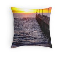 Port Noarlunga Jetty @ sunset Throw Pillow