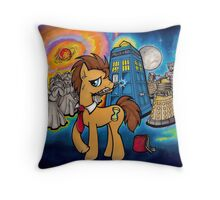 Doctor Whooves - Galaxy Throw Pillow