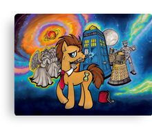 Doctor Whooves - Galaxy Canvas Print