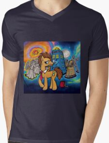 Doctor Whooves - Galaxy Mens V-Neck T-Shirt