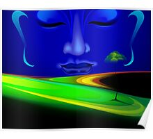 Face of Lord Buddha depicting peace Poster