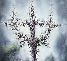 The Holy Cross In The Forest  by Bjorn Eek