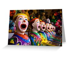 Carnival Clowns Greeting Card