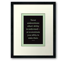 Tobias Sloane Quote Series 2 Framed Print