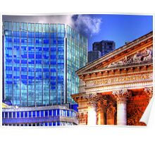 Old and New - Mansion House London - HDR Poster