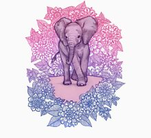 Cute Baby Elephant in pink, purple & blue T-Shirt