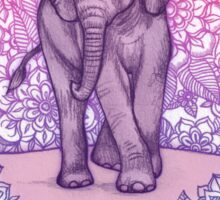 Cute Baby Elephant in pink, purple & blue Sticker
