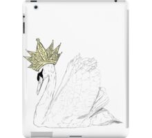 White Swan Queen - Gold Crown iPad Case/Skin