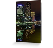 PWC, Crown Casino And the Sandridge Bridge Greeting Card