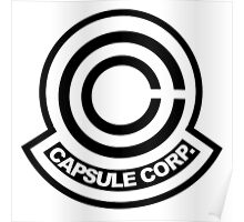capsule corporation logo Poster