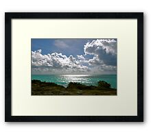 Nubes y Mar Framed Print