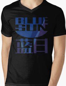 Firefly Serenity Blue Sun Logo Mens V-Neck T-Shirt
