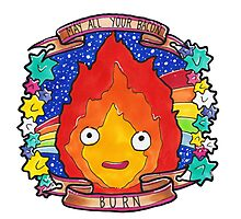 Calcifer - Let all your bacon BURN. Photographic Print