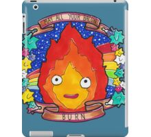 Calcifer - Let all your bacon BURN. iPad Case/Skin