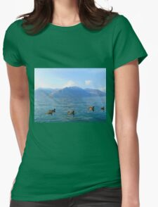 Ducks on a lake in the mountains T-Shirt